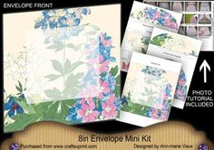 Pretty Blue Flowers Large Blooms 8in Envelope Mini Kit on Craftsuprint - Add To Basket!
