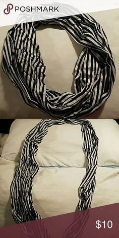 Blue and white scarf Blue and white stripes Accessories Scarves & Wraps