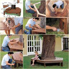 DIY: Build a Tree Bench