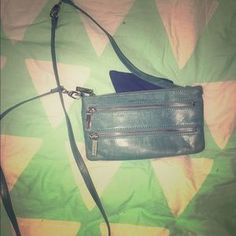 I just added this to my closet on Poshmark: Hobo double zipper light blue cross body bag. Price: $40 Size: 8L x 5H x 1W