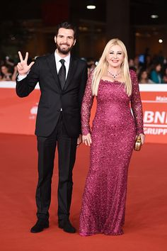 Monika Bacardi and Andrea Iervolino co-producers of AMBI Pictures, at the red carpet event for AMBI Pictures new co-production 'Tre Tocchi'