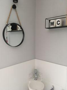 Nieuw toilet grijs/zwart en wit
