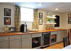 Delicieux Unfinished Pre Assembled Cabinets (Home Depot) Painted Benjamin Moore  Fieldstone