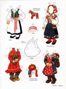 book - libro - scandinavian girl and boy - paper doll - sweden Frugal Christmas, Christmas Crafts, Paper Art, Paper Crafts, Art Origami, Reindeer Craft, Folk Clothing, Thinking Day, Vintage Paper Dolls