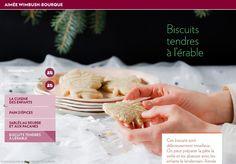 Ces biscuits sont délicieusement moelleux.  On peut préparer la pâte la veille et les abaisser avec les enfants le lendemain. Aimée Wimbush-Bourque les décore très simplement en versant le glaçage enzigzag sur lesbiscuits.