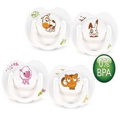 Philips Avent Orthodontic BPA-Free Animal Design Soother, Pacifier, Dummy (0-6m)