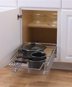 Household Essentials Chrome Glidez Sliding Under-Cabinet Organizer - Storage & Organization - For The Home - Macy's