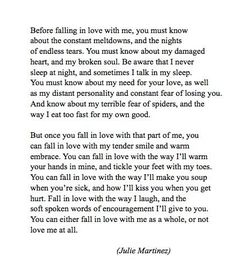 before falling in love with me