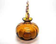 Vintage Amber Perfume Bottle