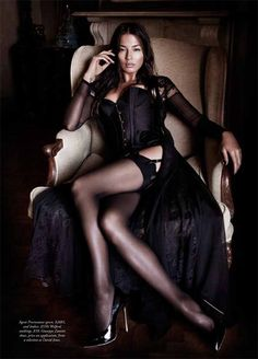 Jessica Gomes Seduces in Agent Provocateur for Harpers Bazaar Australia by Simon Lekias
