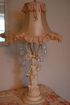 Love this little lamp and shade