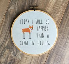 Corgi on Stilts hoop print, funny, dogs, corgi, corgis, dog lover, animals by DapperDuckShop on Etsy https://www.etsy.com/listing/261030274/corgi-on-stilts-hoop-print-funny-dogs
