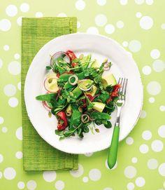 Mangetout-and-avocado-salad