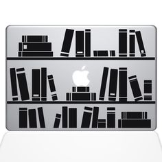 Amazon Bookshelf Library Macbook Decal Sticker 13 Air Black
