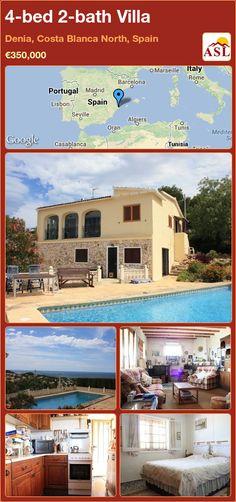 4-bed 2-bath Villa in Denia, Costa Blanca North, Spain ►€350,000 #PropertyForSaleInSpain