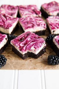 Blackberry Cheesecake Brownies - Broma Bakery