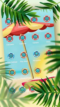 Try this amazing Solo Launcher Summer theme.