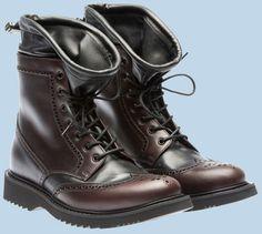 Prada calf and nappa leather boot Prada, Fashion Boots, Mens Fashion, Designer Boots, Winter Boots, Fall Winter, My Guy, Brogues, Passion For Fashion
