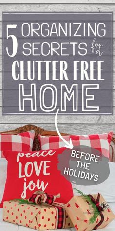 Home organizing tips to clear the clutter before the holidays. #handlinghomelife