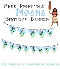 Moana party printables - printable banner party decoration