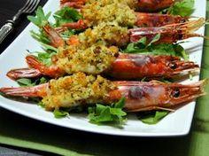 Ricetta con e senza Bimby dei GAMBERONI GRATINATI cotti al forno. Un antipasto o un secondo piatto ideale per le Feste. Ricetta a base di pesce facile