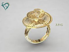 print model Gold ring flower design woman wedding , formats include STL, ready for animation and other projects Arabic Jewelry, Hand Jewelry, Jewelry Art, Jewelry Rings, Jewelery, Jewelry Model, Modern Jewelry, Indian Jewellery Design, Jewelry Design