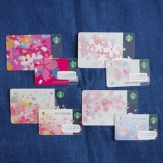 F/S Starbucks Japan set 8 cards 2016 2017 Sakura cherry blossom limited #srarbucks