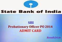 SBI PO Admit Card 2014