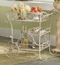iron tea cart - love this one for my girls too!!