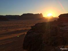 Sun set in Wadi Rum, Jordan