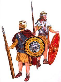 """""""Roman legionaires, conquerors of Partha, 3rd century A.D.""""- La Pintura y la Guerra. Sursumkorda in memoriam"""