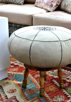 Benches & Stools Fabulous Footstool From The 1950s Repainted And Reupholstered Post-1950