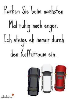 Parkmahner - Kofferraum