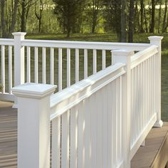 Shop Fiberon White Composite Deck Railing (Common: 4-in x 6-in x 8-ft; Actual: 4-in x 6-in x 8.041-ft) at Lowes.com