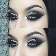 dark wedding makeup tyttiev BROWS: in Ebony EYES: quot; Gel Liner with Noir and Stone Makeup Fx, Artist Makeup, Punk Makeup, Smokey Eye Makeup, Makeup Goals, Beauty Makeup, Grunge Makeup, Makeup 2018, Pigment Eyeshadow