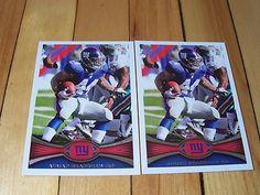 AHMAD BRADSHAW 2012 Topps #298 Lot of (2) Base Cards NEW YORK GIANTS RB Mint NFL