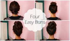 10 MESSY BUN hairstyles for back to school, party, everyday ❤ Quick and easy hair tutorial Easy Lazy Hairstyles, Running Late Hairstyles, Easy And Beautiful Hairstyles, Heatless Hairstyles, Bun Hairstyles For Long Hair, Cute Girls Hairstyles, Simple Bridal Hairstyle, Hair Magazine, Long Hair Styles