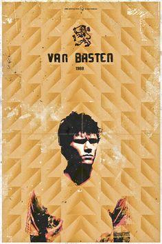 Marco van Basten ~ History Ballon D'Or by Giuseppe Vecchio Barbieri, via Behance