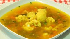 Receta fácil de sopa de coliflor