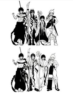 I love how Aladdin and Hakuryuu changed a lot and Judal and Alibaba not so much Magi Judal, Sinbad Magi, Hakuryuu Ren, Aladdin Magi, Anime Magi, The Kingdom Of Magic, Manga Illustration, Fan Art, Cartoon