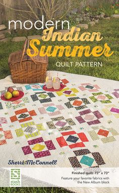 Modern Indian Summer Quilt by Sherri McConnell of A Quilting Life