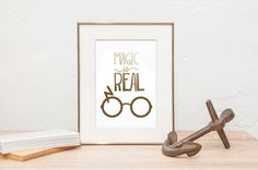 Hey, I found this really awesome Etsy listing at https://www.etsy.com/listing/265171343/magic-is-real-gold-foil-print-gold-foil