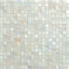 Shimmer Glass Tile | Arizona Tile. Pearl (small mosaic squares).  Pair with 1x4 Shimmer Abalone.