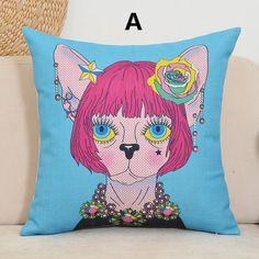 Pop Art pillow cat cartoon design decorative pillows 18 inch