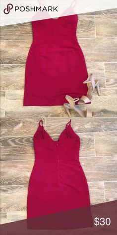 🔥Max and Cleo red bodycon dress🔥 This dress is HOT. I mean smokin'. I'll post a pic of it on later. I ended up buying a size 8 because the six is just a smidge too small for me up top. My loss is your gain! Structured fabric design hugs your curves in all the right places and keeps all your lumpy parts nice and smooth. Fully lined with sewn in lightly padded cups so you don't have to worry about wearing a bra. Plunging v neck showcases your assets perfectly. Max and Cleo Dresses
