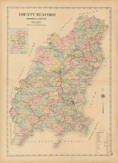 Map Of Wexford County Ireland.39 Best Ireland County Maps Images County Map Ireland Irish