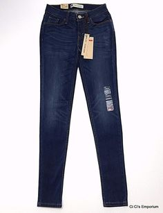 Levis 535 Super Skinny Jean Leggings 3M 26 Juniors 25W x 30L Ultra Low Rise #Levis #Leggings