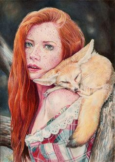 Colour Pencil Drawing - Faber Castell Polychromos, Derwent and Prismacolor Pencils on 29x20cm Canson Mi-tientes Paper. Reference photo by kind permission of talented Photographer Anya Stoyan Please...