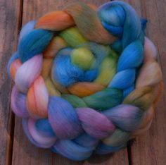 Roving Handpainted Roving Wool Roving 53 by SimplyHandspunYarn, $25.00
