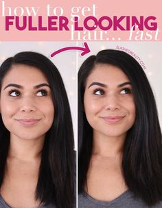 How to Get Fuller Hair | 4 Hair Hacks for Thicker Looking Hair | Slashed Beauty